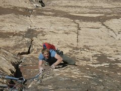 Rock Climbing Photo: crimpy pitch (8th?) Lev 29