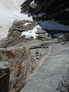 Rock Climbing Photo: 2nd pitch handcrack of Good Evans