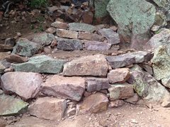 Rock Climbing Photo: Some of the rock structure that was completed this...
