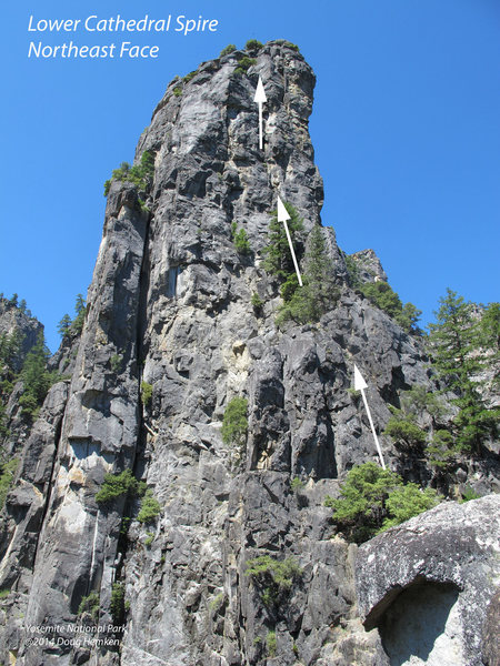 The general line of the NE Face