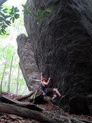 Rock Climbing Photo: Born of a Broken Hold, FA