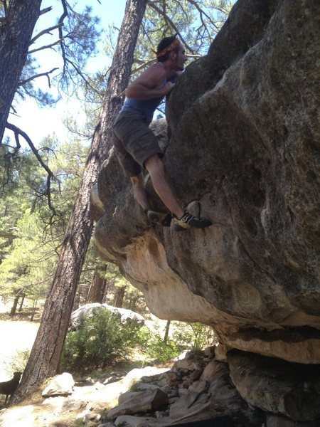 Rock Climbing Photo: Topout on the Island