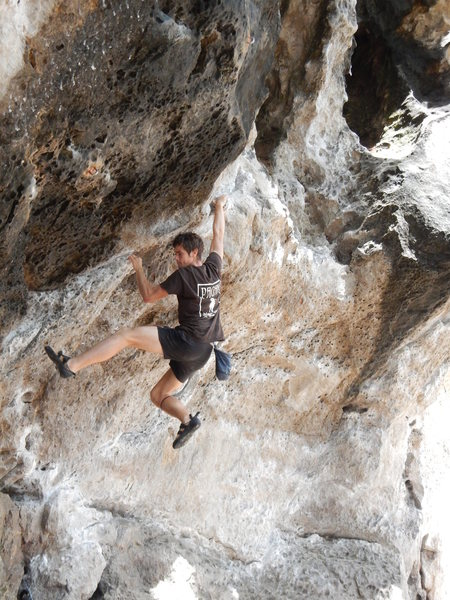 Rock Climbing Photo: Princess Eyes 6C (Phra Nang beach, Thailand)