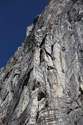 Rock Climbing Photo: Unknown climbers on the money pitch of Hospital Co...