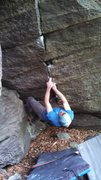 Rock Climbing Photo: The two finger pocket and fingerlock.