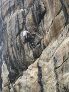 Rock Climbing Photo: The upper headwall.  Sustained!