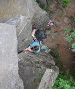 Rock Climbing Photo: Loose Block Overhang