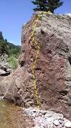 Rock Climbing Photo: Wet Shorts, V0+.