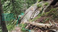 Rock Climbing Photo: This boulder blocks the view of Tasty Slab. Tasty ...