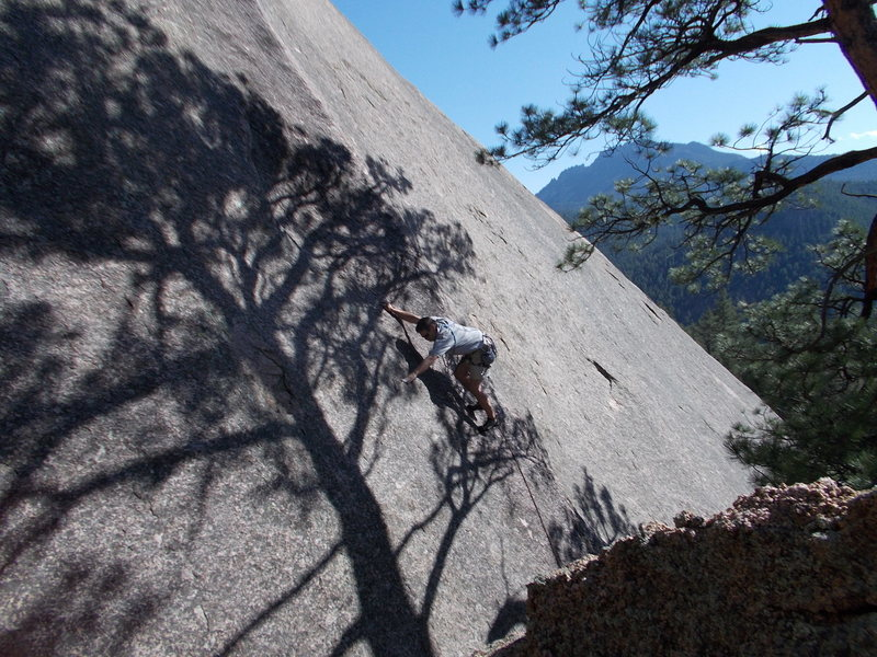 Rock Climbing Photo: Rob at the 1st bolt, 25ft.