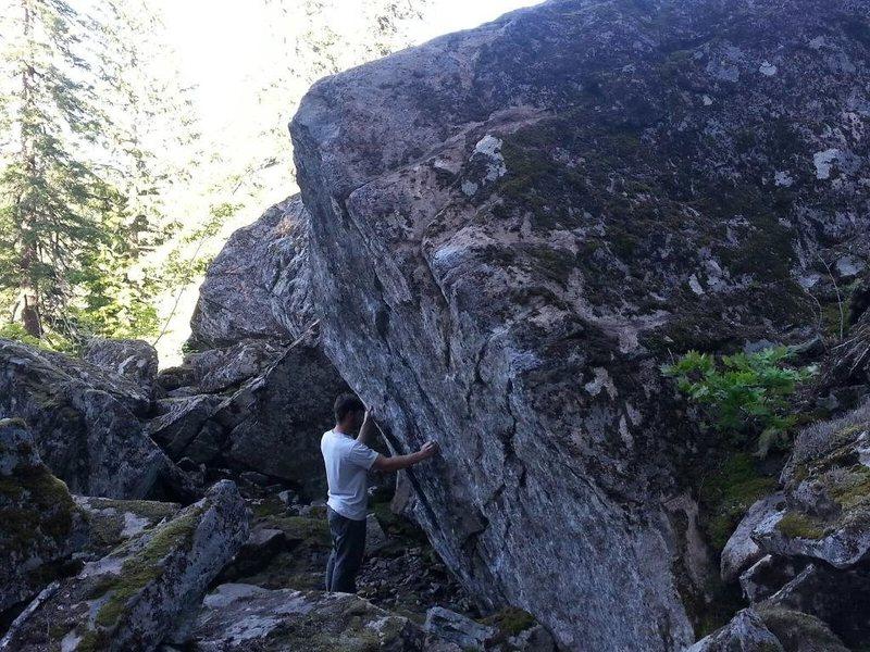 Rock Climbing Photo: Aaron at the boulder
