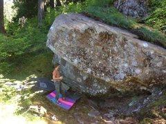 Rock Climbing Photo: Roof boulder.