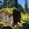 Huge boulder.