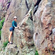 Rock Climbing Photo: Becca is ready to embark upon her first real climb...