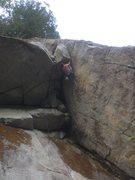 Rock Climbing Photo: Mike on the FA