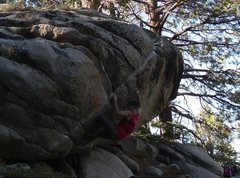 Rock Climbing Photo: Setting up for the move.