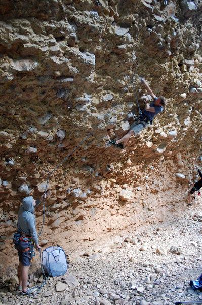 Rock Climbing Photo: Cross Overs!