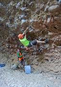 Rock Climbing Photo: Camon Doing a lower Cross over!