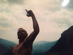Rock Climbing Photo: Being a goofball on the Eaglet before the Old Man ...