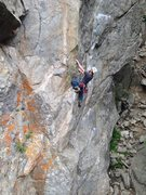 Rock Climbing Photo: Myself on Supernatural.  This line is great!