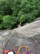 Rock Climbing Photo: Cruisin' to the top... Laurel Knob, NC