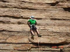 Rock Climbing Photo: Gman leading Jumping Someone Else's Train