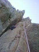 Rock Climbing Photo: The most wicked off-width dihedral in the Seminoes...