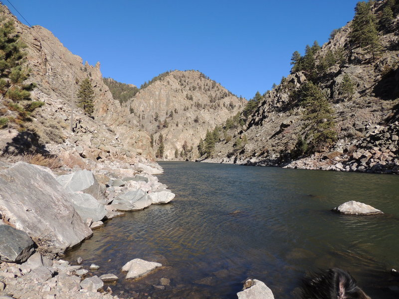 Rock Climbing Photo: Stellar Scenery for Climbing and Fishing. You can ...
