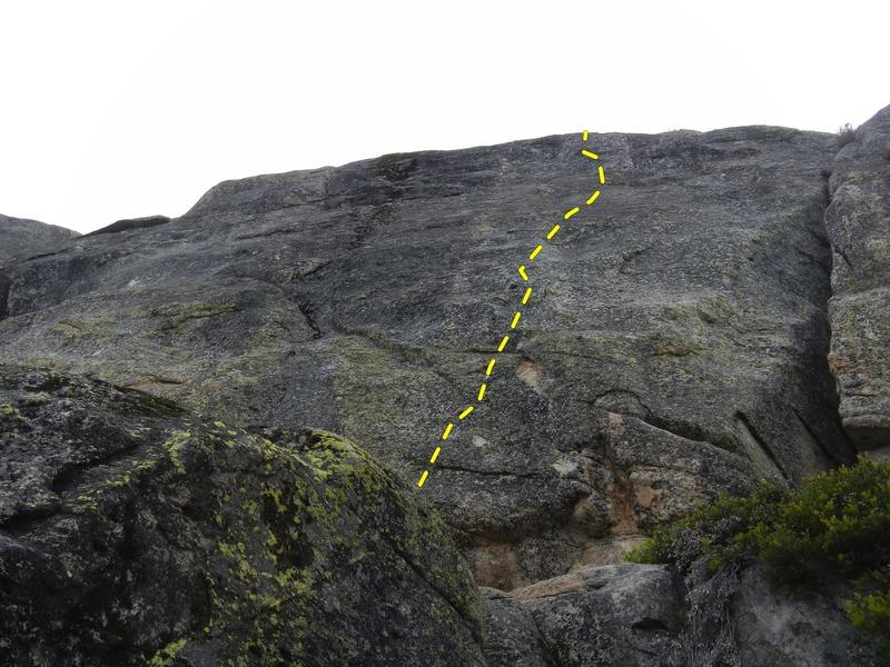 Rock Climbing Photo: Climb the five bolts to anchors.
