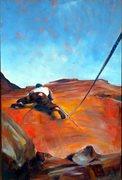 Rock Climbing Photo: original oil painting by Jacob Tarazoff jacobtaraz...