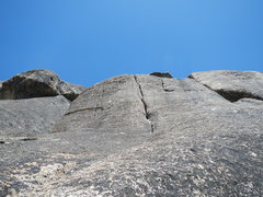 Rock Climbing Photo: Looking up the crack of Change Up.
