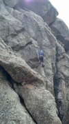 Rock Climbing Photo: First pitch crux.