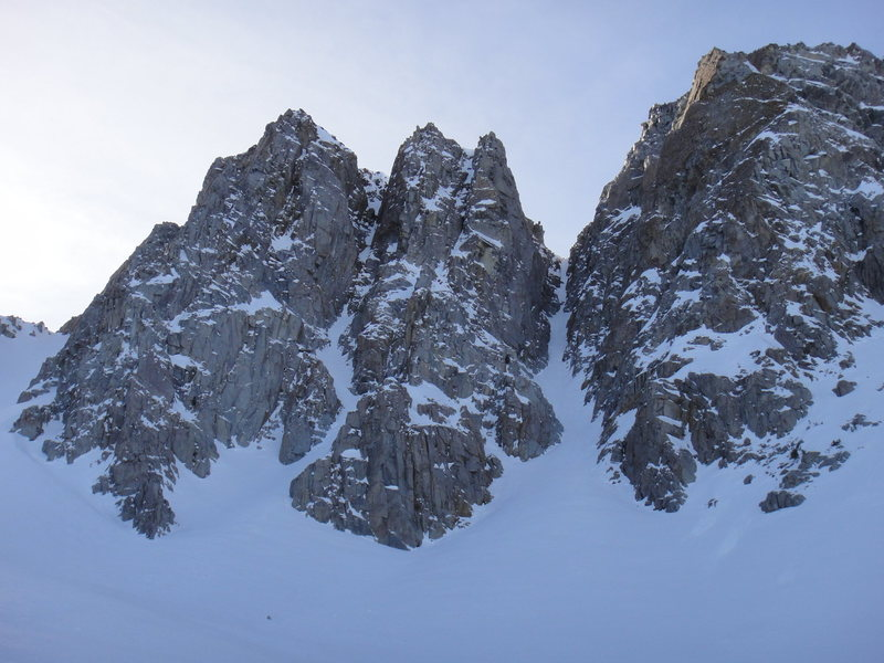 Rock Climbing Photo: Pyramid Peak mid-winter.