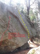 Rock Climbing Photo: Gatineau Special is to the left of Ken's Super Sla...