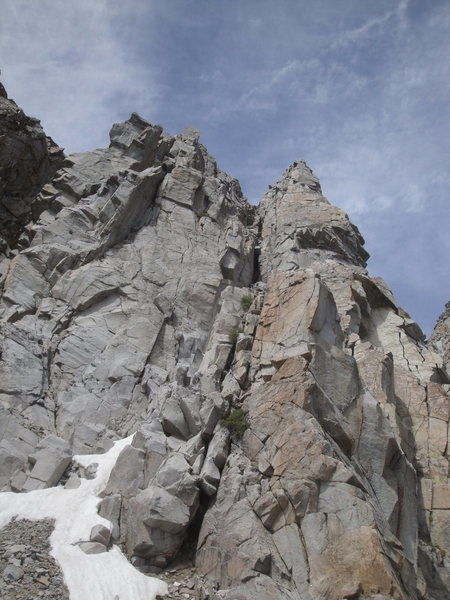 Looking up the route from the top of pitch two.