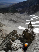Rock Climbing Photo: Topping out the killer splitter at the end of the ...