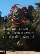 Rock Climbing Photo: Stand under the rope swing...to see this crag to t...