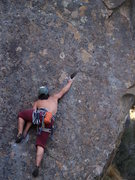 Rock Climbing Photo: big reach after the first clip
