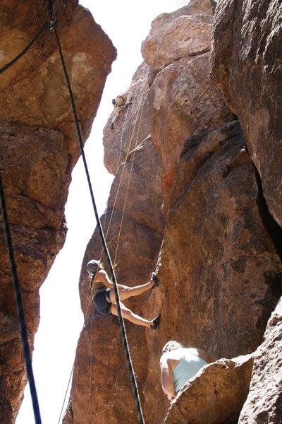 Rock Climbing Photo: Leading Sunny Side Up