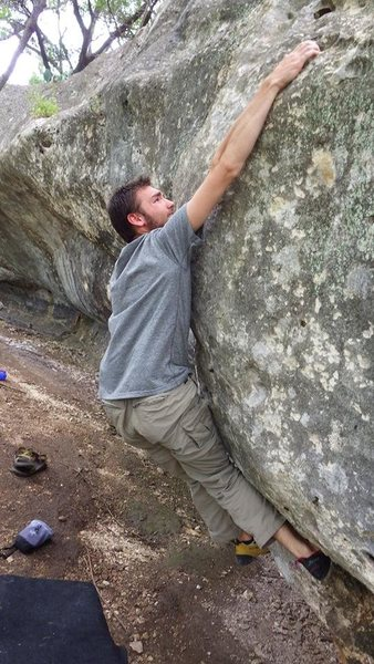 the crux and blind dyno, but the use of a tick and some good footwork help a lot. just pls scrub off tick mark