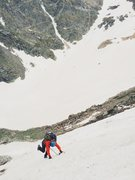 Rock Climbing Photo: Down climbing the Notchtop Couloir. June 14, 2014....