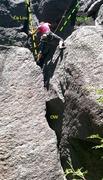 Rock Climbing Photo: La Lou offwidth start