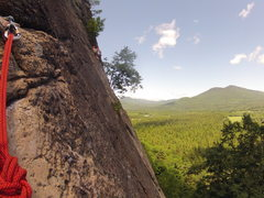 Rock Climbing Photo: From the top of P1, looking towards other party at...