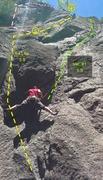 Rock Climbing Photo: La Lou variation 1
