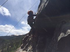 Rock Climbing Photo: Tristan Martinez (6) on Dirty Blonde.  Photo by Ch...