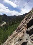 Rock Climbing Photo: Lyle Knudson on Easy Redhead.  Photo by Chris Perk...