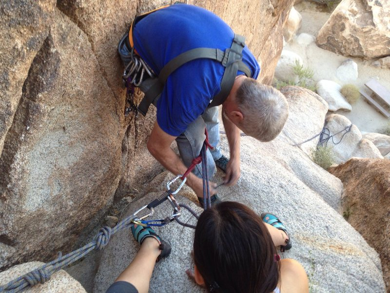 "Rappelling 101 (""Just don't fall!"")"