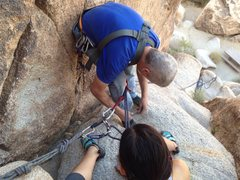 "Rock Climbing Photo: Rappelling 101 (""Just don't fall!"")"