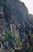 Rock Climbing Photo: Very different basalt that I've climbed other plac...