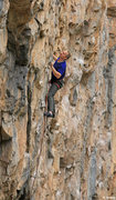 Rock Climbing Photo: Keith Beckley fighting his way up the classic Hang...